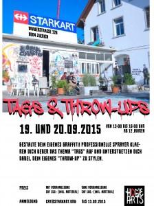 """Graffiti Workshop """"Tags&Throw-Ups"""" 2015"""